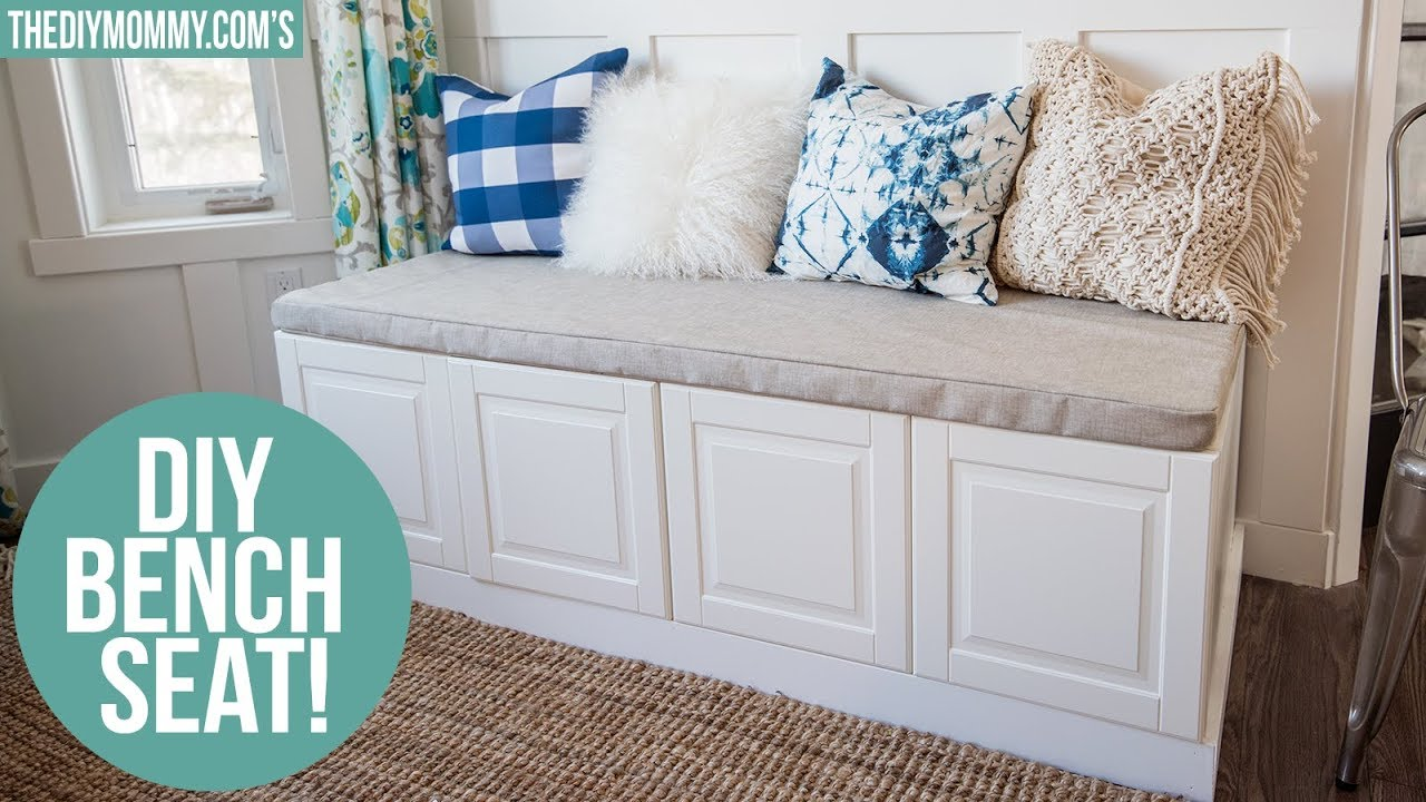 Diy Indoor Bench Seat Ikea Hack How To Build A Bench From Kitchen Cabinets