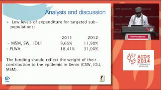 Evaluation flow of resources and expenditures related to HIV and AIDS in Benin in 2012