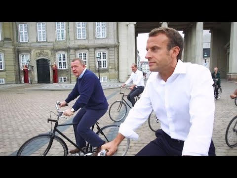 Macron takes scenic bike ride around Copenhagen