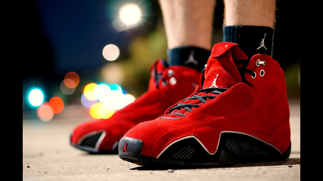1ceb599da86ad7 Brand New Nike Air Jordan XXI (21) Red Suede Sneaker Review - YouTube