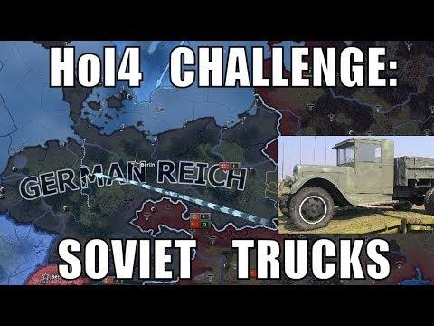 Hearts of Iron IV Challenge: Soviet trucks vs buffed Germany