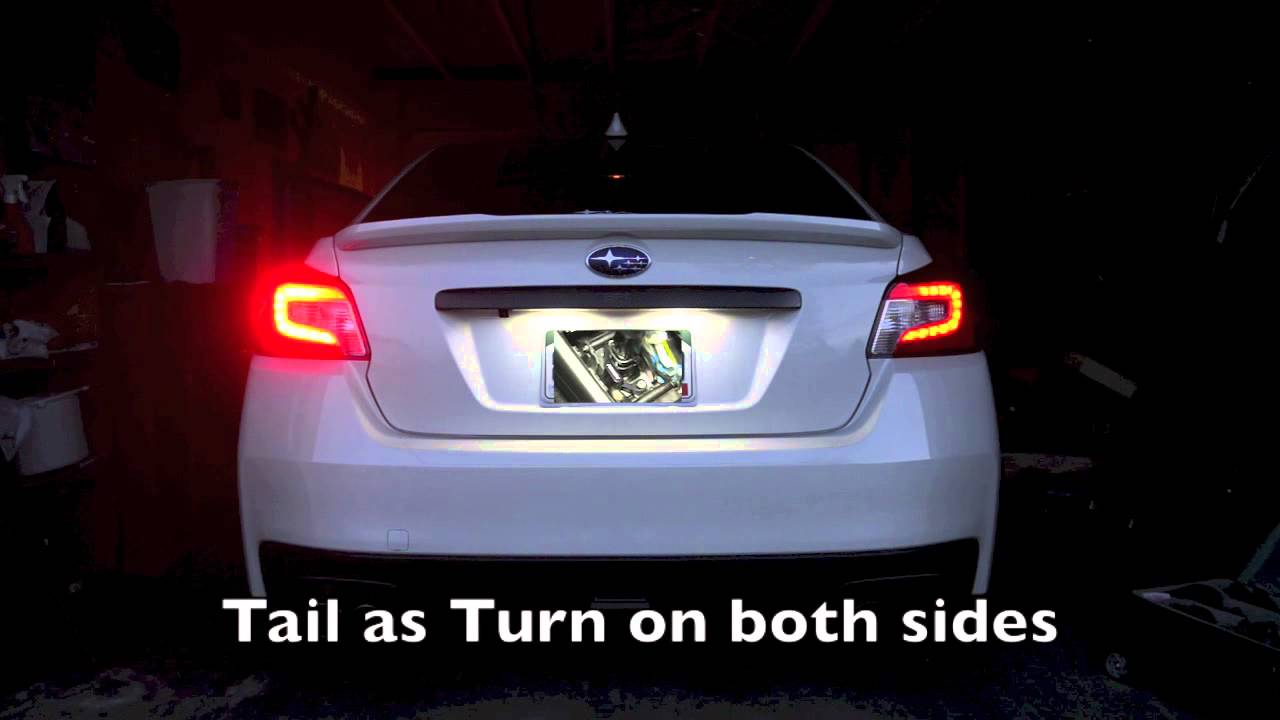 2015 Wrx Cool Tail Light Modification Youtube