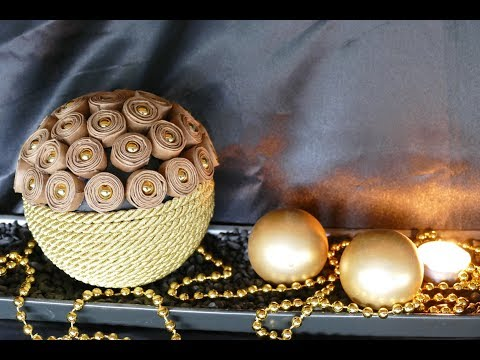 DIY Kugel – Weihnachtskugel basteln – Wohndeko Weihnachten – decoration balls – Рождественский бал