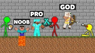 Minecraft Battle: NOOB vs PRO vs HACKER vs GOD : STICKMAN FIGHT CHALLEGNE IN MINECRAFT ANIMATION