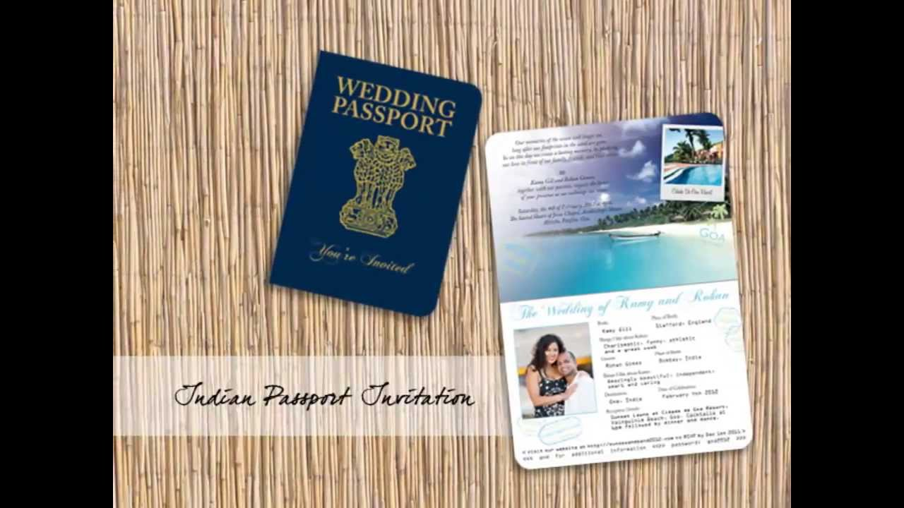 Passport Invitations, Airline Tickets And Luggage Tag Save The Dates By  Destination Stationery   YouTube  Airplane Ticket Invitations