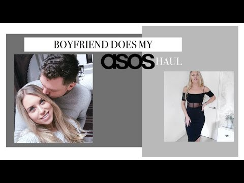 BOYFRIEND DOES MY ASOS SHOP | Try on Haul | Freya Farrington
