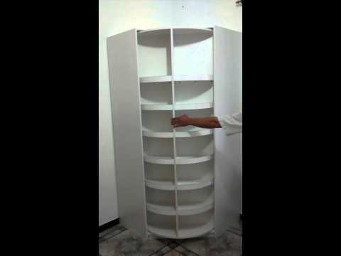 Closet rotatorio hdecor doovi for Armario zapatero giratorio