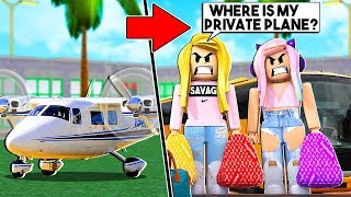 SPOILED RICH GIRLS GO ON A HOLIDAY - DISASTER! (Roblox)