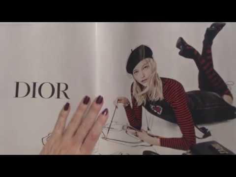 ASMR ~ Flipping Through Fashion Magazine / Some Whispered Reading