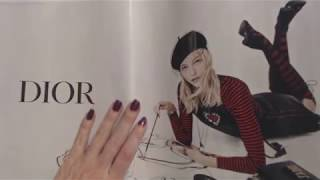 ASMR ~ Flipping Through Fashion Magazine / Some Whispered Reading