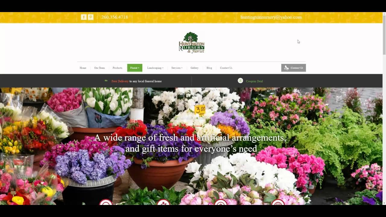 Web design Huntington - WordPress - Website - Huntington Nursery ...