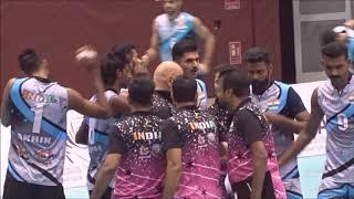 Qatar vs India Volley Ball Match 2019