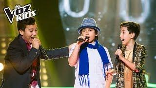 Juan David, Samuel Morales y Tono cantan Bonita - Batallas   La Voz Kids Colombia 2018