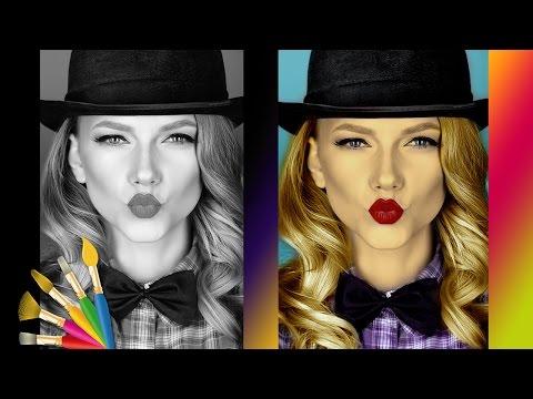 Как в Фотошопе черно-белое сделать цветным