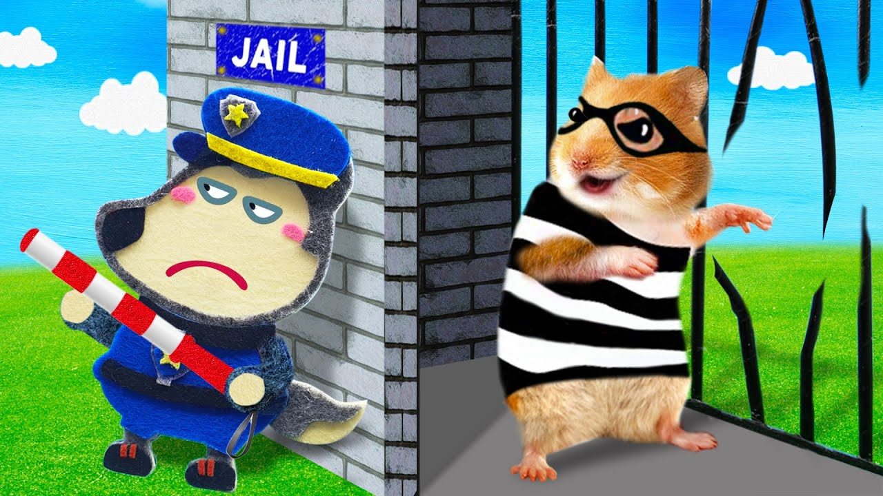 No no! Wolfoo Police, Criminal Hamster Escape the Jail - Cartoon Hamster by Life Of Pets Hamham