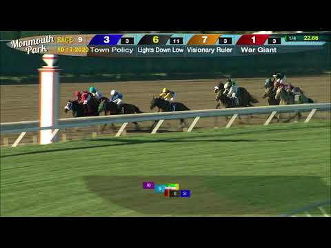 video thumbnail for MONMOUTH PARK 10-17-20 RACE 9