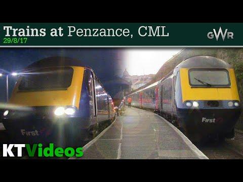 Trains at Penzance, CML - 29/8/17
