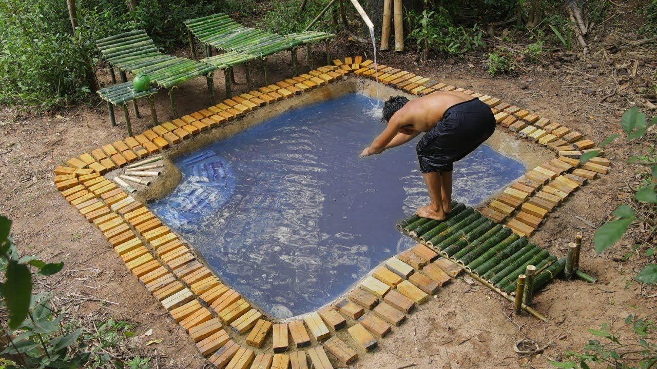 Build Bamboo Water Park And Rebuild Underground Swimming ...