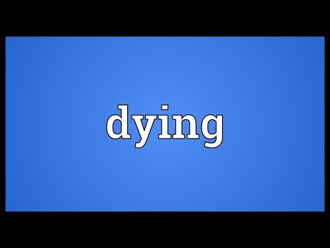 Dying Meaning