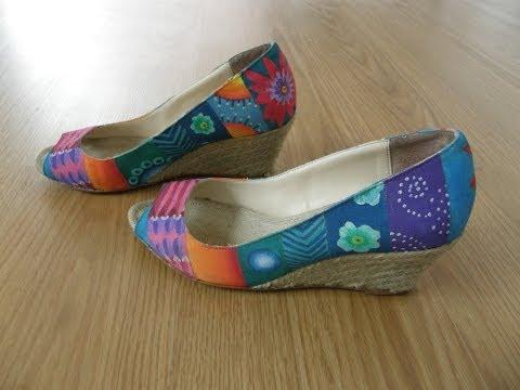 Zapatos decorados con pintura textil