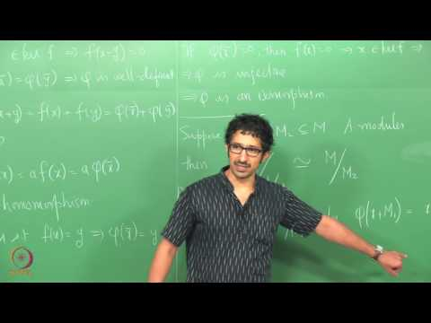 Lecture 9 - Isomorphism Theorems and Operations on Modules