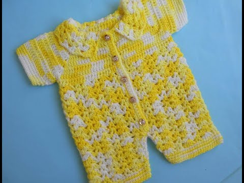 Crochet Crosia Free Patttern With Video Tutorials Baby Romper