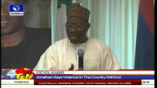 News@10: Leaders Celebrate Sallah With Prayer For Peace,Unity And Progress 041014 Pt.1