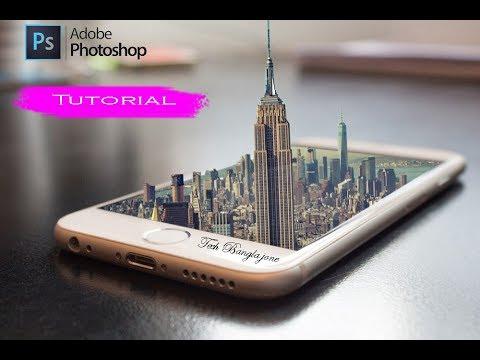 HOW TO MAKE 3D MANIPULATION | photoshop tutorial | Tech Bangla Jone thumbnail