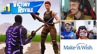Playing Fortnite with a Kid from Make-A-Wish!