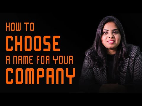 How to choose a Name of Company