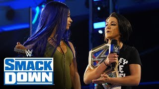 Bayley offers up Sasha Banks for clash with Tamina: SmackDown, April 10, 2020