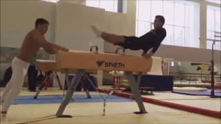 Fabian Hambüchen in Training, Diego Hypolito On Floor Video