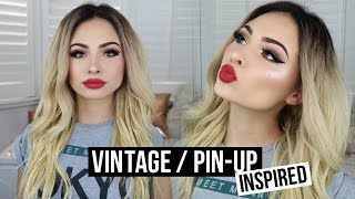CLASSIC VINTAGE / PIN-UP INSPIRED MAKEUP TUTORIAL | Talia Mar