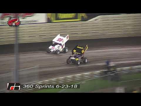 Knoxville Raceway 360 Highlights - June 23, 2018