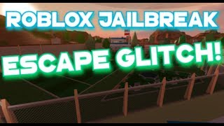 Roblox | Jailbreak - ESCAPE GLITCH!! ESCAPING WITH STYLE XD!!