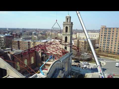 Installation of Truss 4 at the Shrine of Christ the King