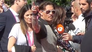 johnny depp disneyland paris 14 may 2017 mai premiere pirates of the caribbean