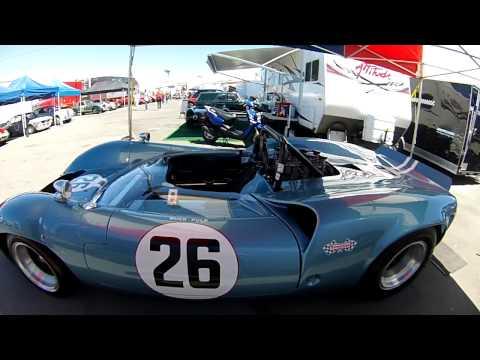 David Pozzis restored Buck Fulp Lola car at Laguna Seca 2013
