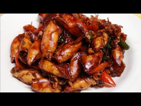 ADOBONG PUSIT|BRAISED CALAMARI WTH SOY AND VINEGAR|The Restaurants Food
