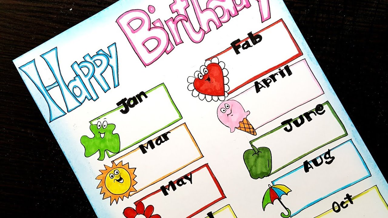 Birthday Chart Ideas For School Projects