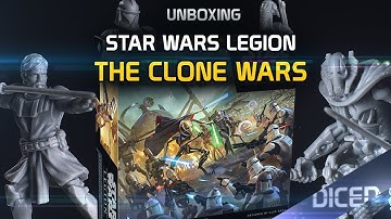 Unboxing: Star Wars Legion: The Clone Wars | 2 Spieler Starterset | First look | DICED