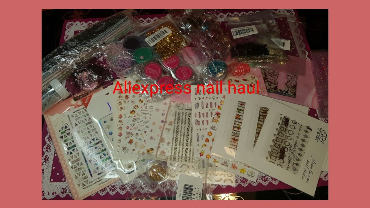 Aliexpress nail haul Review and swathes