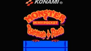 Batman and Flash Nes Gameplay - Monster in My Pocket Hack - Full Walkthrough [Nostalgia] (HQ)