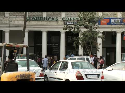 Starbucks Coffee's new outlet in Delhi @Connaught Place