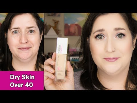 NEW Maybelline SuperStay Full Coverage | Dry Skin - 8 Hour Wear Test