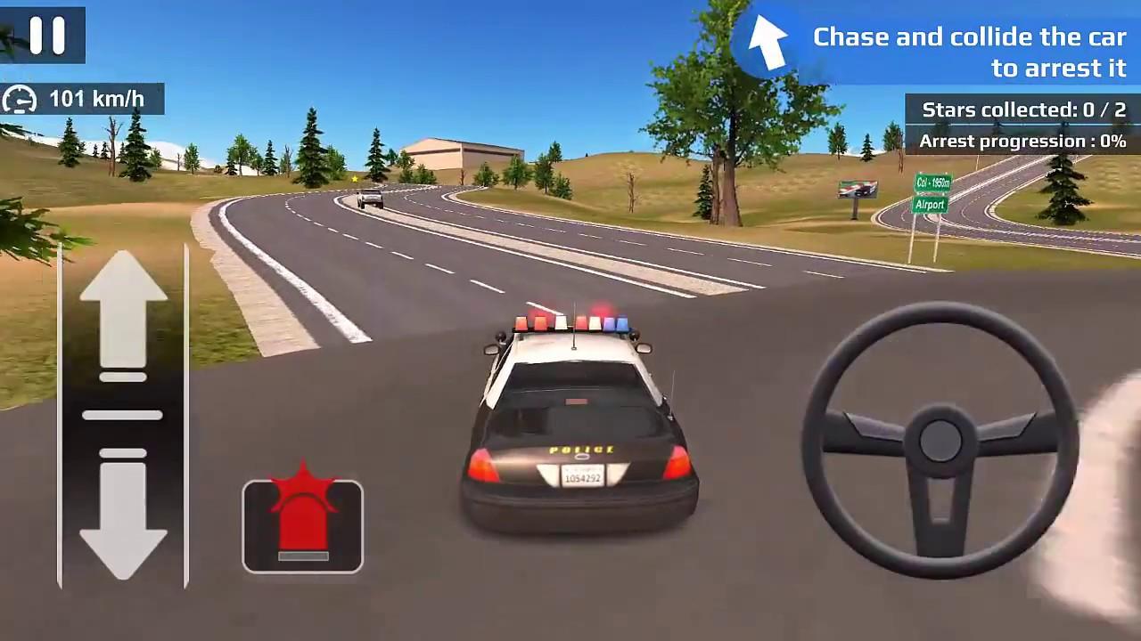 Direksiyonlu Araba Oyunu Polis Arabası Oyunu Görevleri Yapıyoruz