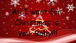 All I want for Christmas is you - Mariah Carey ft. Justin Bieber (Lyrics)