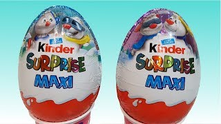 New Kinder Maxi 2017 Snowman Surprise Toy Christmas Edition