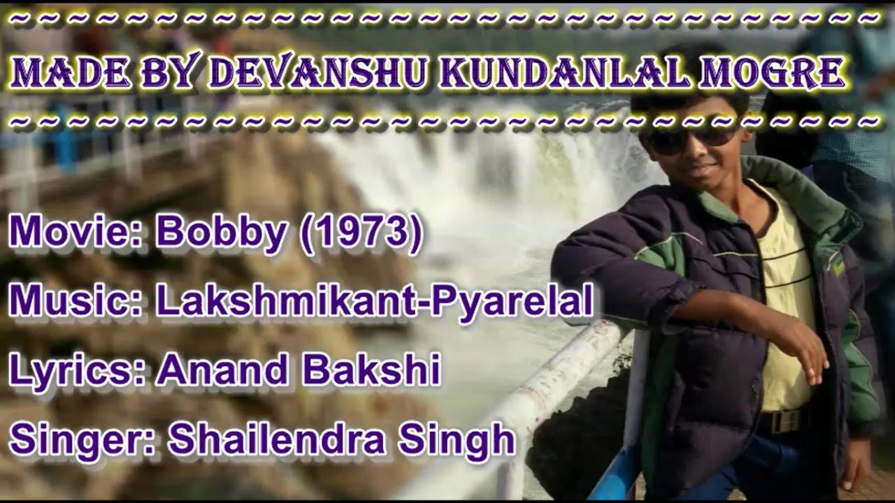 Download Main Shayar To Nahi Karaoke with Scrolling Lyrics -  Bobby (1973)