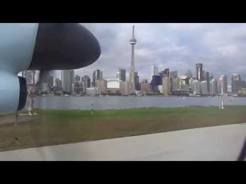 Toronto Island Airport to Montreal flight: takeoff, Cherry Beach, landing YUL 2013-09-22